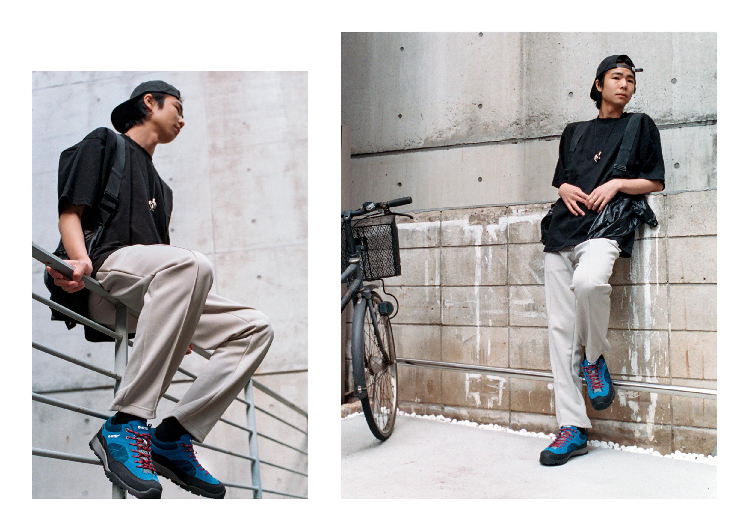 Top & Pants - Hi Tec HTS74, Footwear - Hi Tec Japan, Bag - Sasquatchfabrix, Hat - Norse Projects