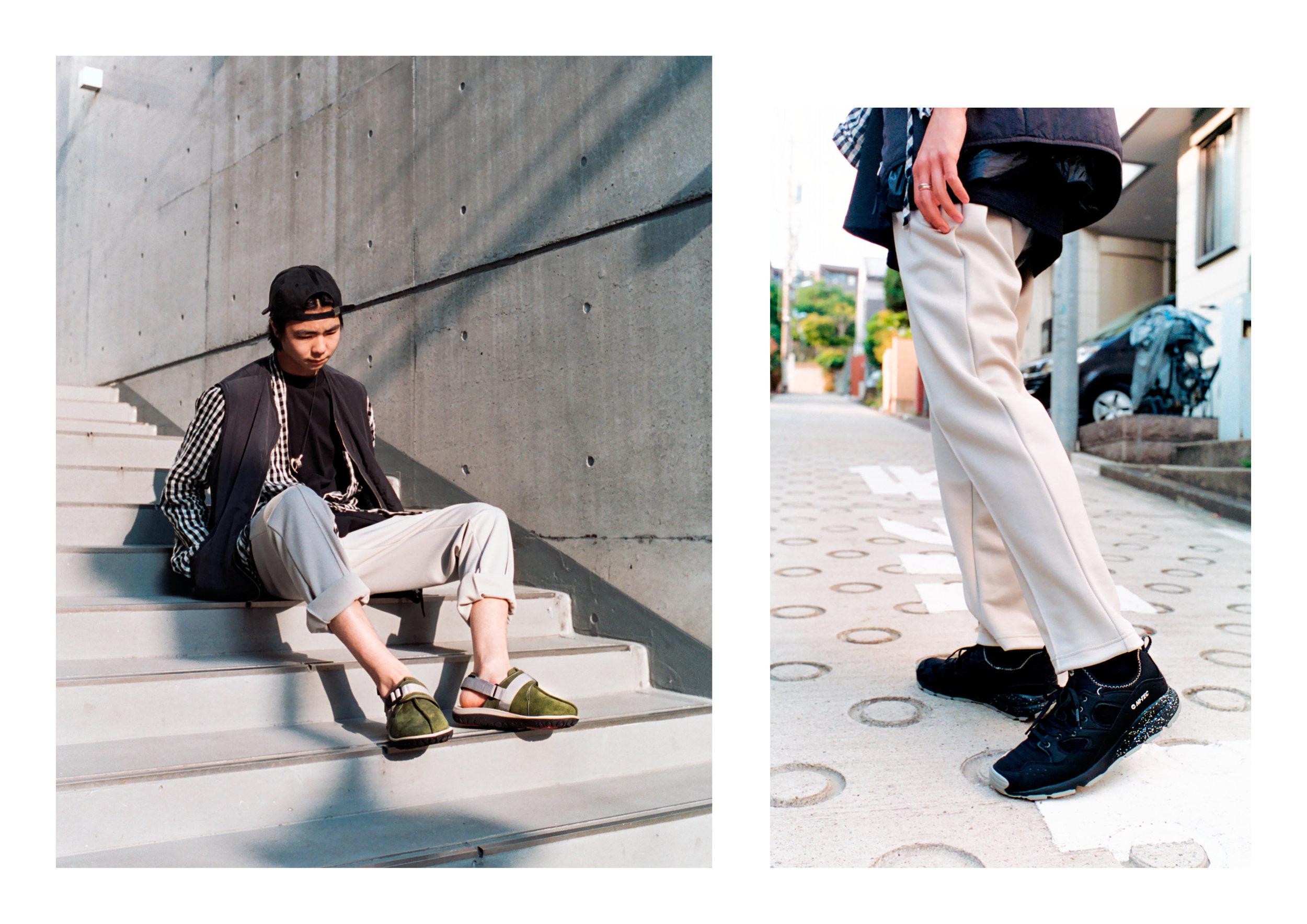 Jacket - Arket, Shirt - Kapital, Pants - Hi Tec HTS74, Footwear - Hi Tec Japan, Hat - Norse Projects