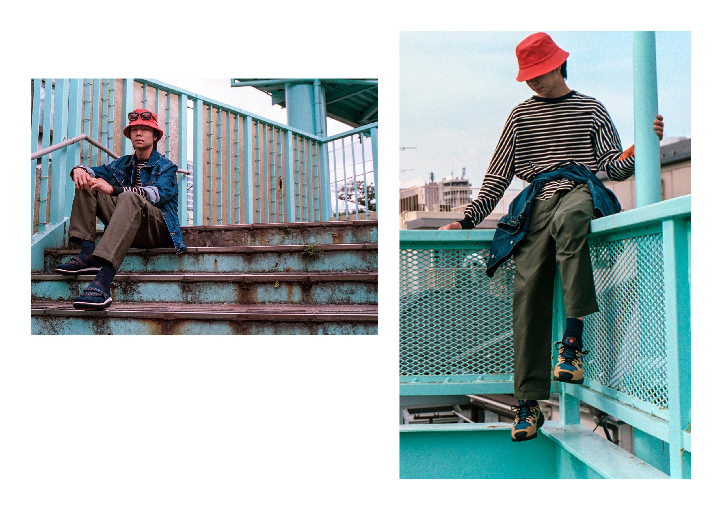 Jacket - Katherine Hammet, Top - Unrivalled, Pants - WoodWood, Footwear - Hi Tec Japan, Hat - YMC