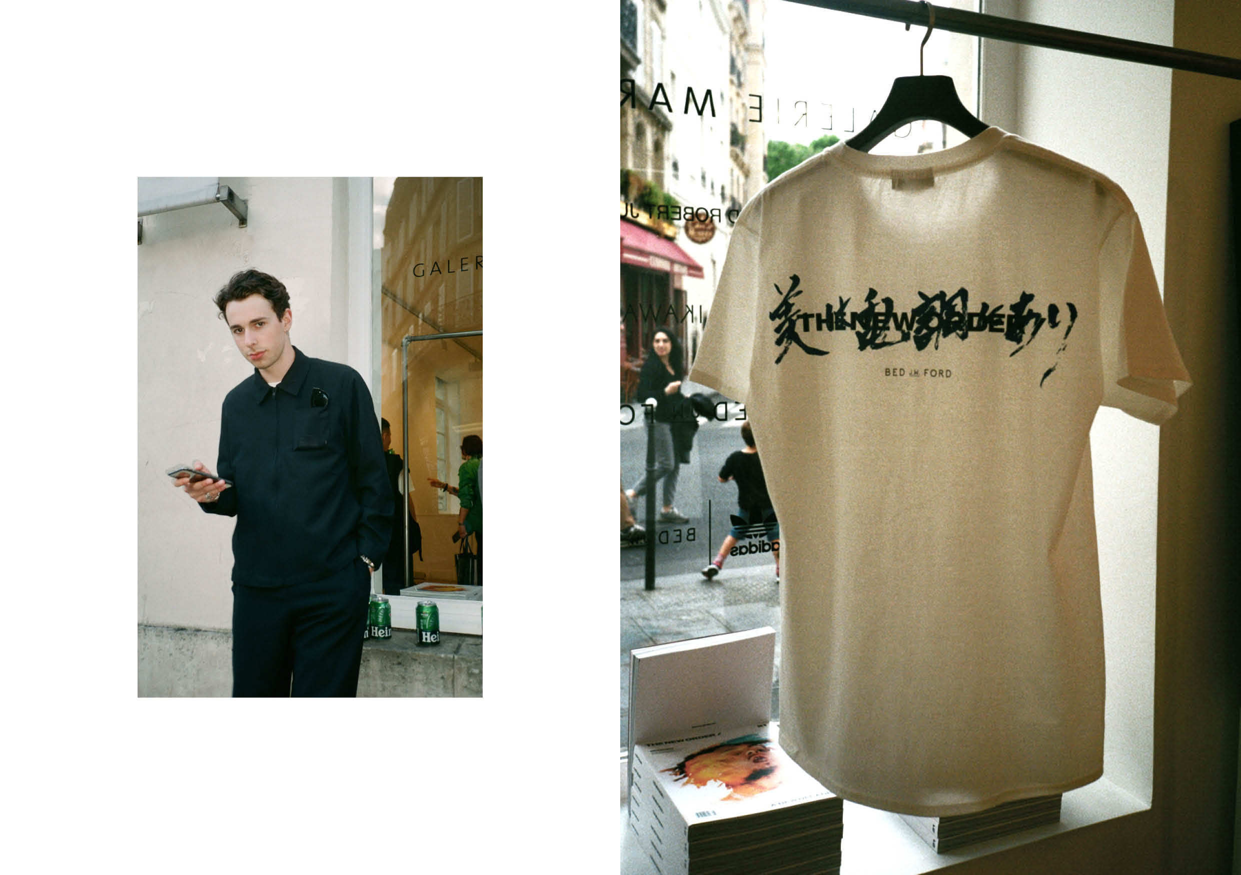 Left: Eddie Wailes / Right: Paris Launch T-shirt with BED j.w. FORD
