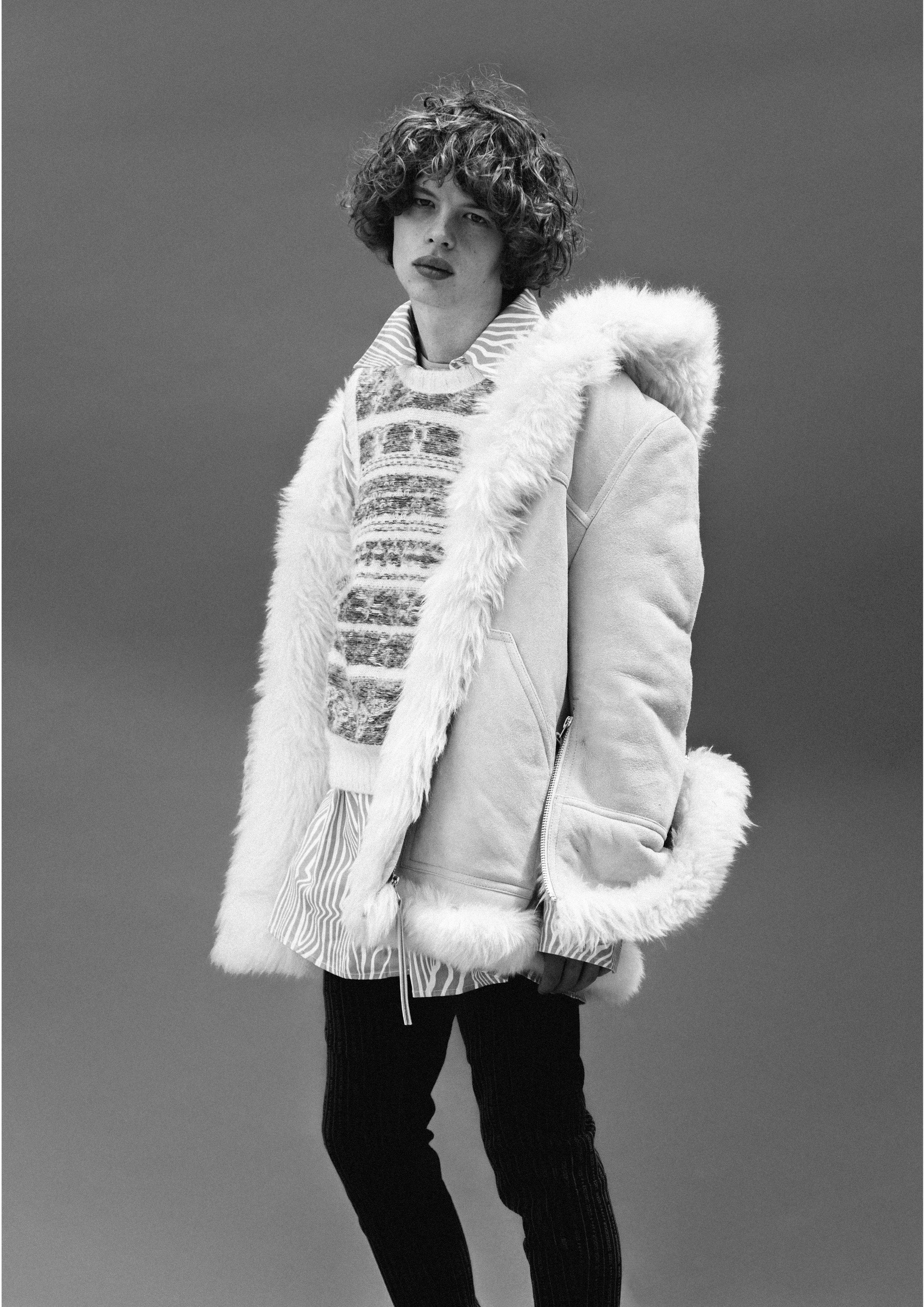 Shearling Jacket - Acne Studios Vest - Acne Studios Shirt - Alex Mullins Trousers - Wooyoungmi