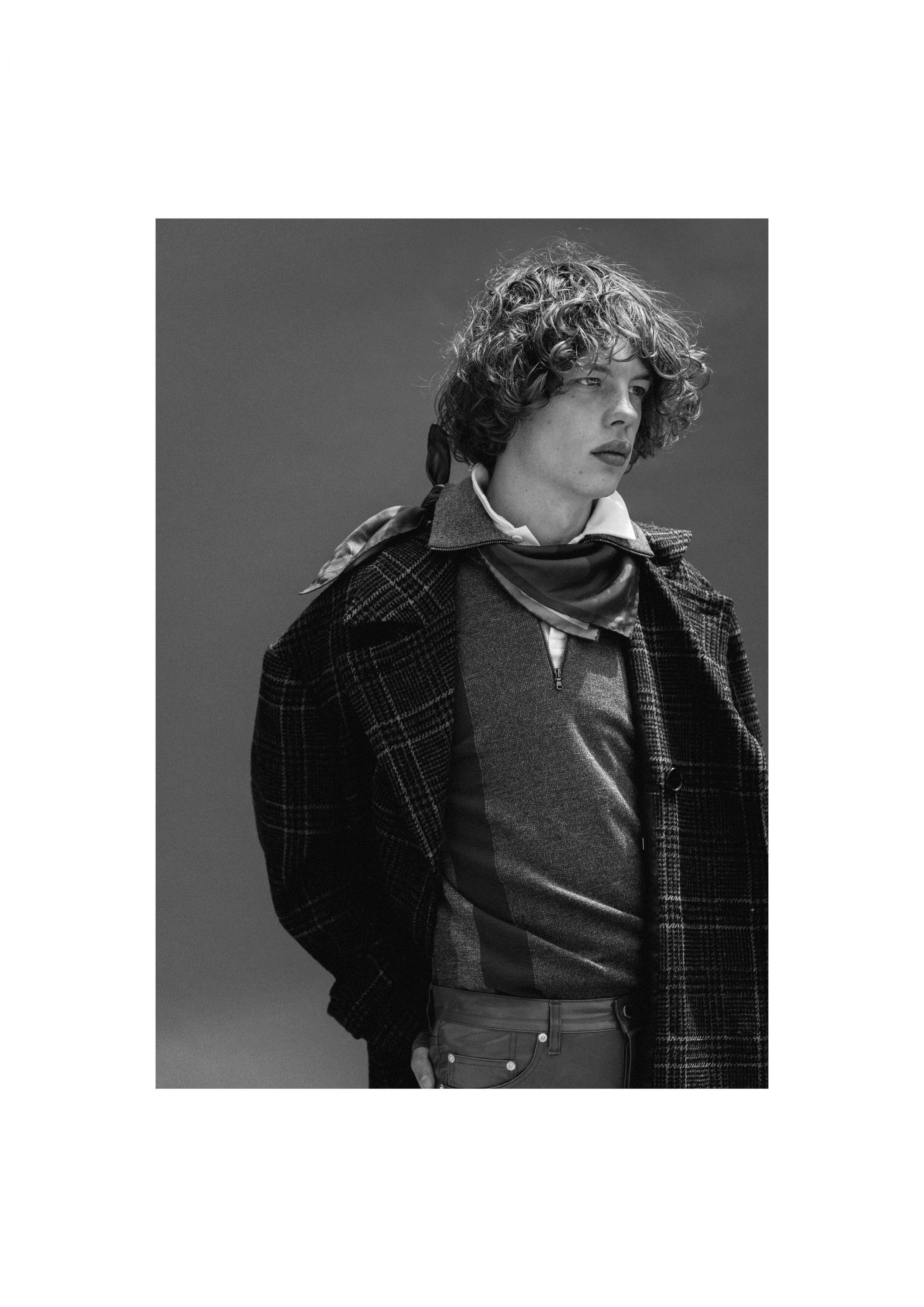 Coat - John Lawrence Sullivan Half Zip - Pringle of Scotland Polo Shirt - Sunspel Scarf - Sunspel Jeans - John Lawrence Sullivan