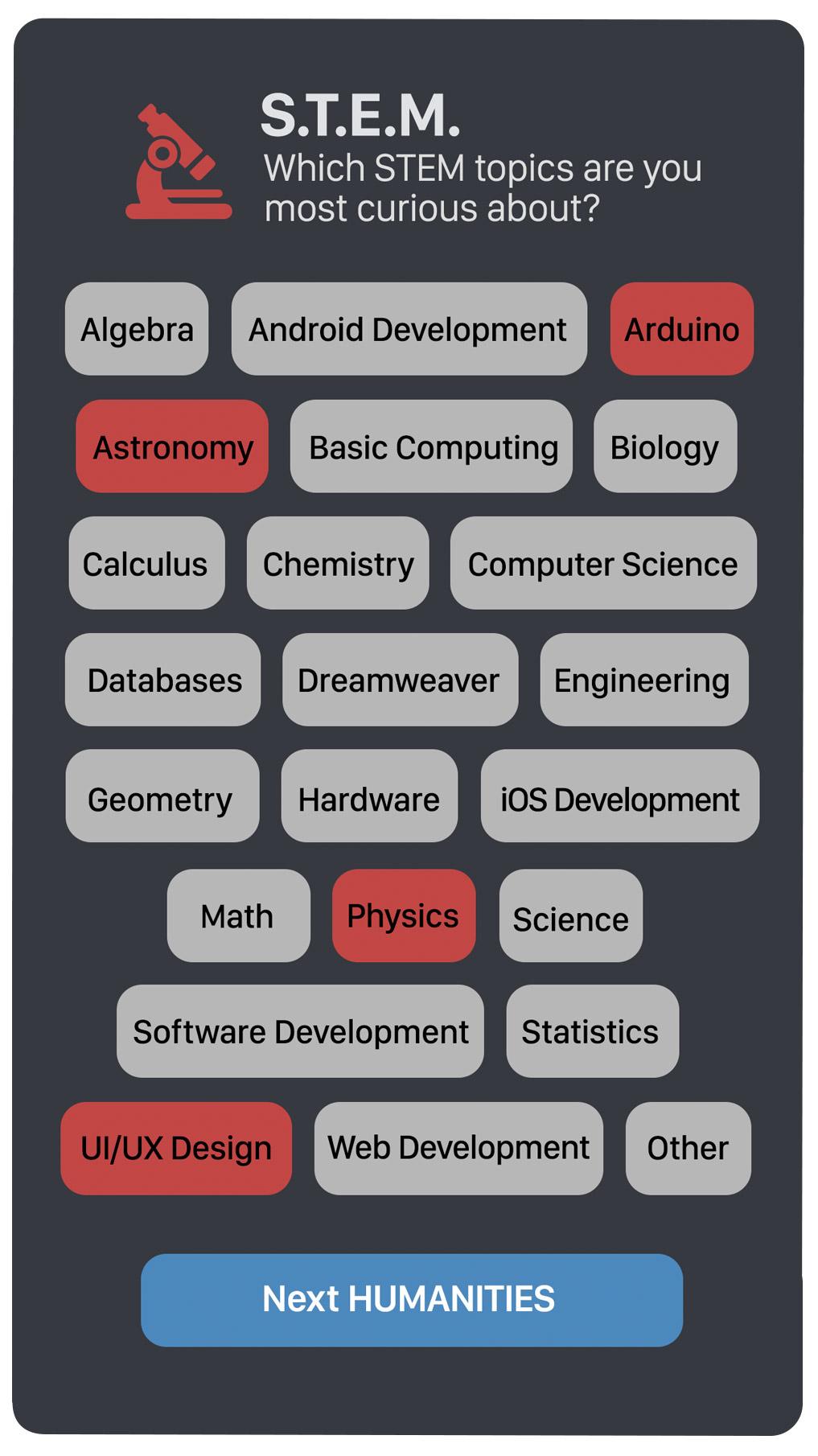 Curious App interview