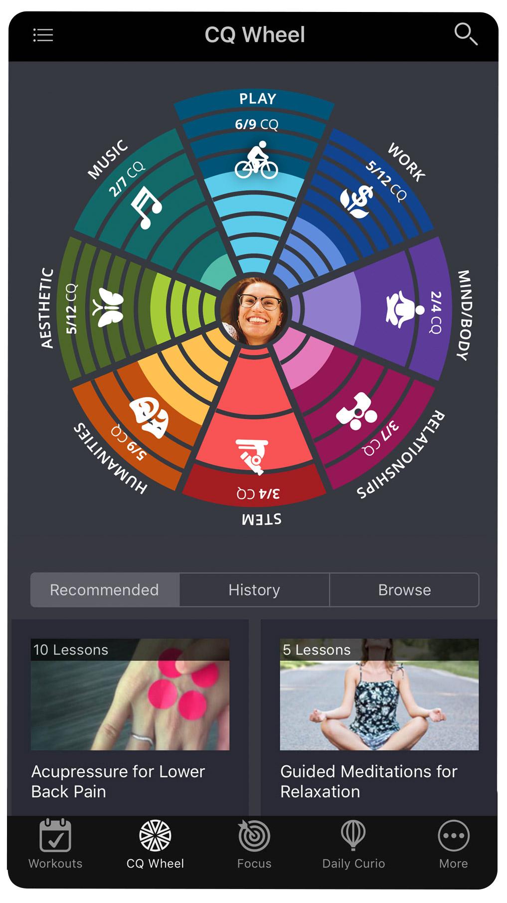 Curious App Wheel