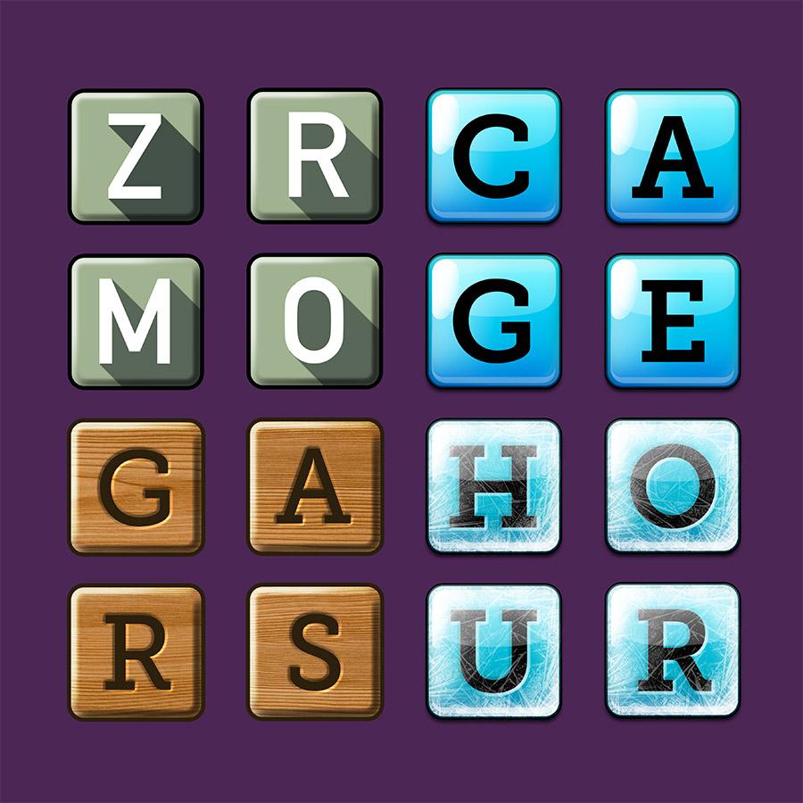 Letter tiles for games