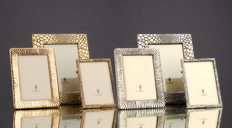 Frames     24K Gold and Platinum plated Brass