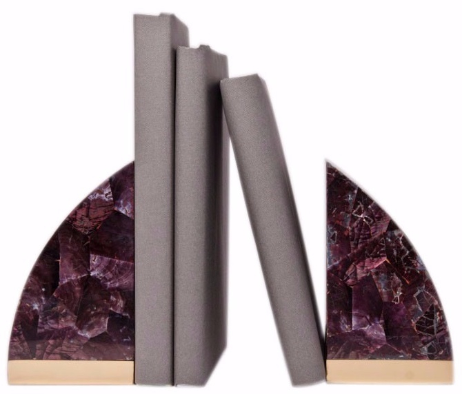Bookends    Purple shell