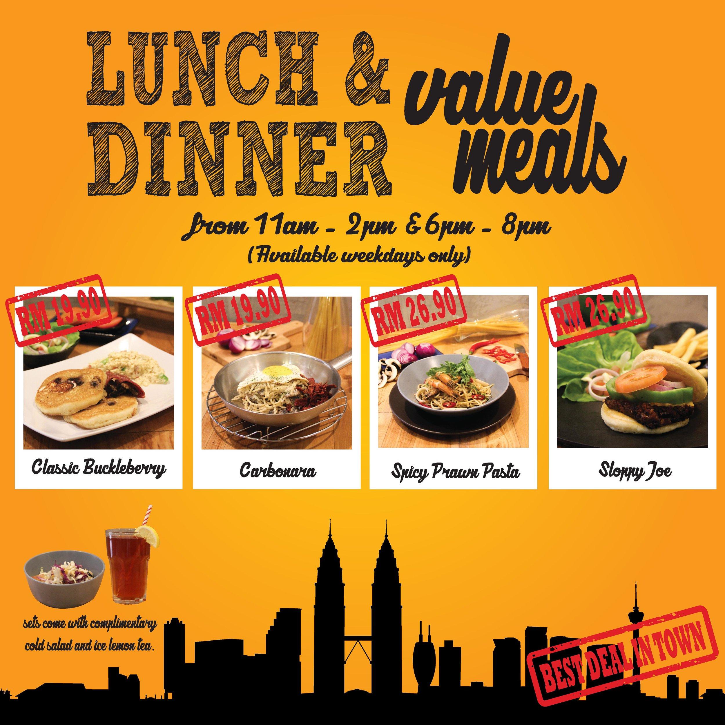 PHOP Nu Sentral Lunch and Dinner Value meals!