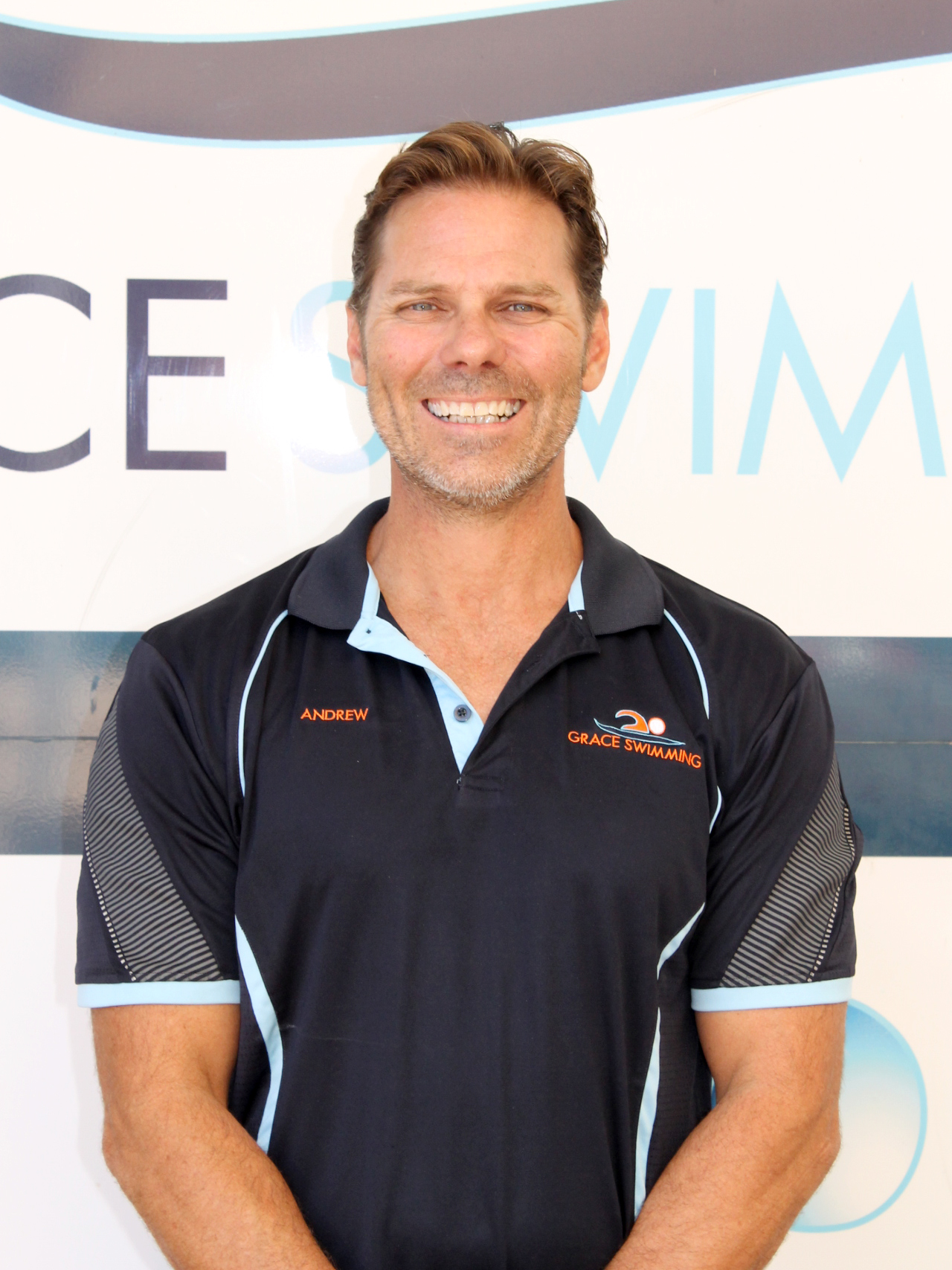 Andrew - Aquatics CoordinatorAndrew has been working in the Aquatic Industry for 20 years, and is now our Aquatics Coordinator at Grace Swimming. He began Lifeguarding in the 90's and then went on to teach swimming. As he travelled around Australia he gained invaluable experience and worked in every role imaginable. His biggest achievement to date was designing and constructing his own Swim School in Roma.Andrew still stresses the importance of always having a mentor, and continuing to learn. Prior to joining us here at Grace Swimming in 2015, he held the lease of the Roma Swimming School for 9 years. His goal here is to know every swimmers name.