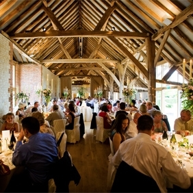 the barn at Bury court   - venue