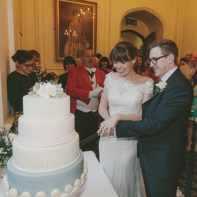 """""""Thank you for making our wedding cake, it looked stunning and tasted amazing!""""   hannah &kyle"""