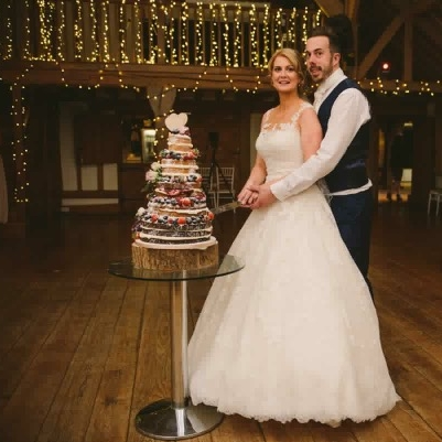 """""""Our wedding cake was truly scrumptious! Thank you Vanessa it was amazing and everyone said how delicious and looked fantastic! Thank you""""   Samantha & Andrew"""
