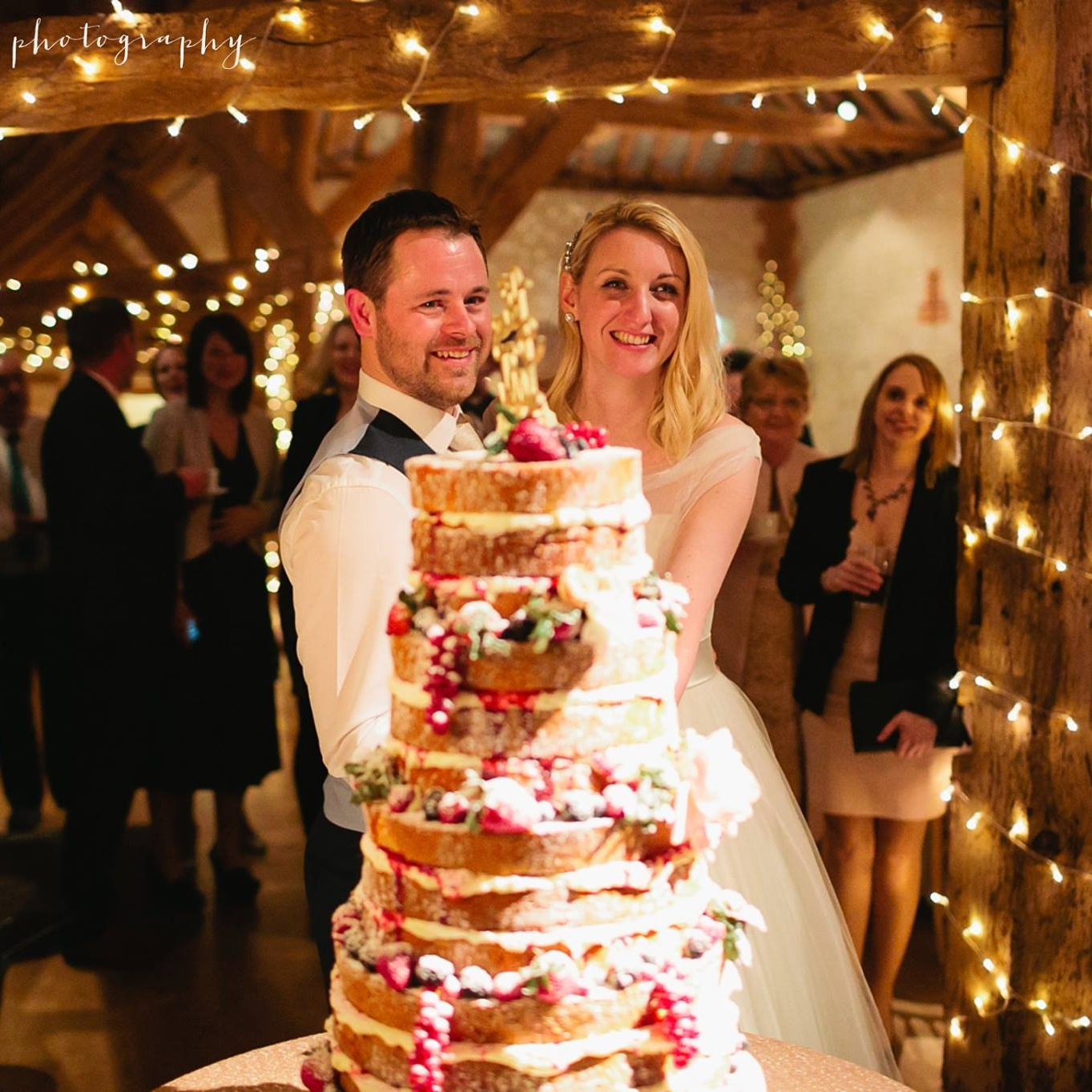 """""""Thank you SO much to forever cakes for re-creating a mini version of our wedding cake for our first anniversary today. Went down a treat with the family!""""   Claire & ray"""