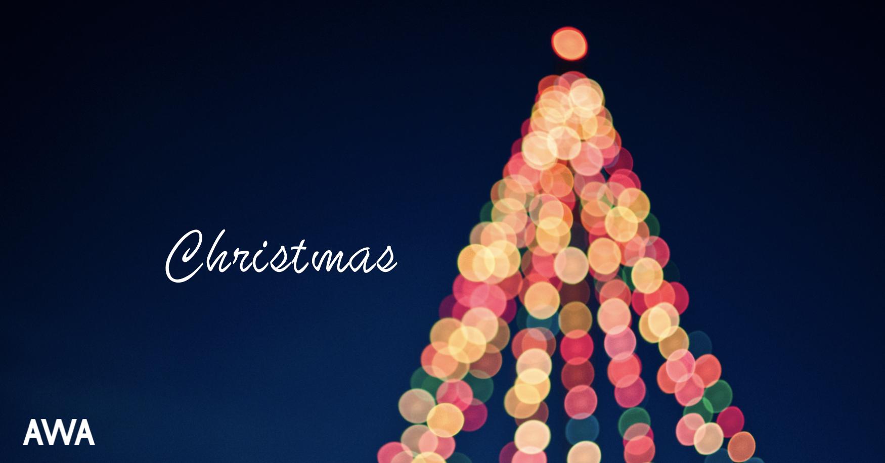 """クリスマスもAWAで音楽との素敵な """"出会い"""" と """"再会"""" がありますように。"""