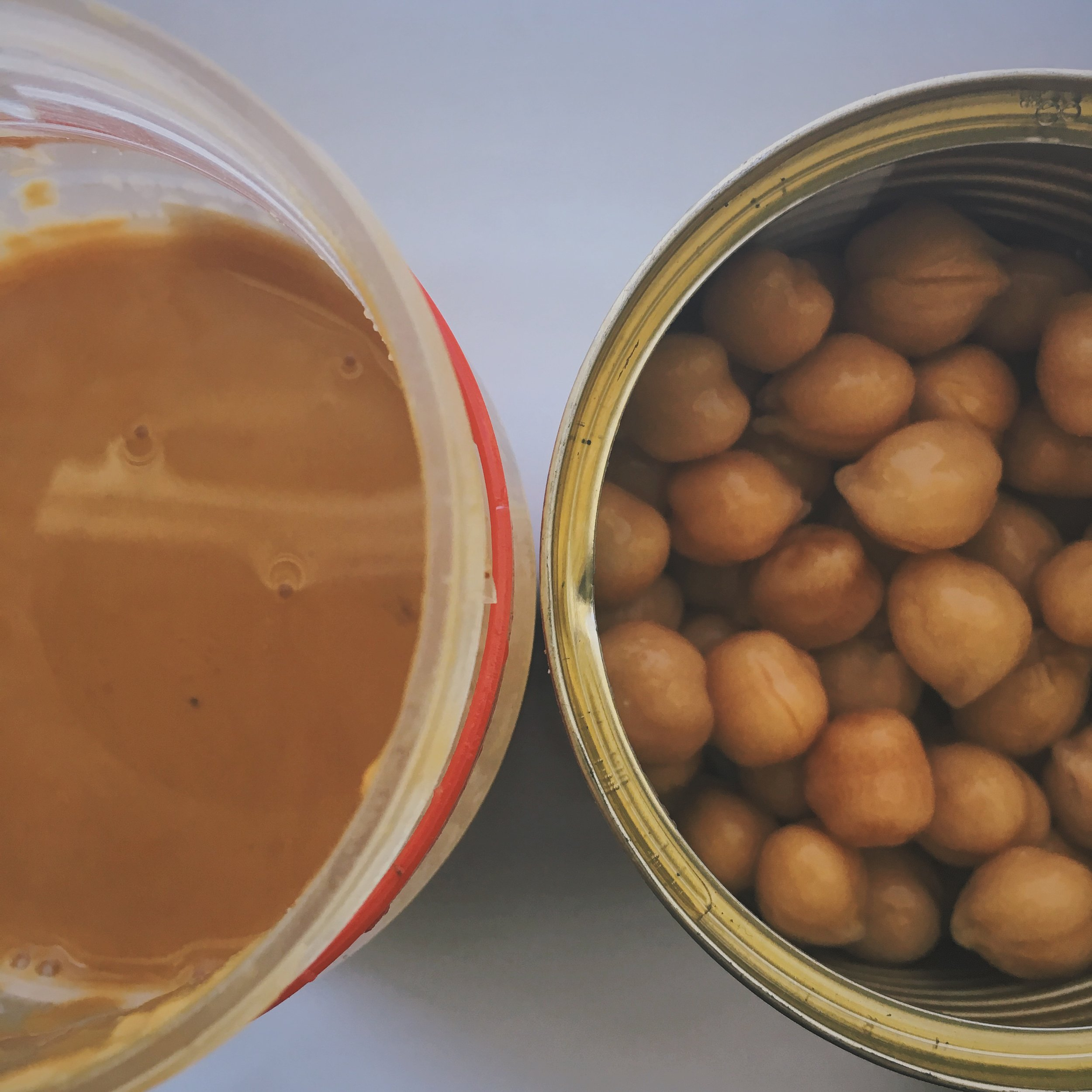 protein overload: peanut butter and chickpeas