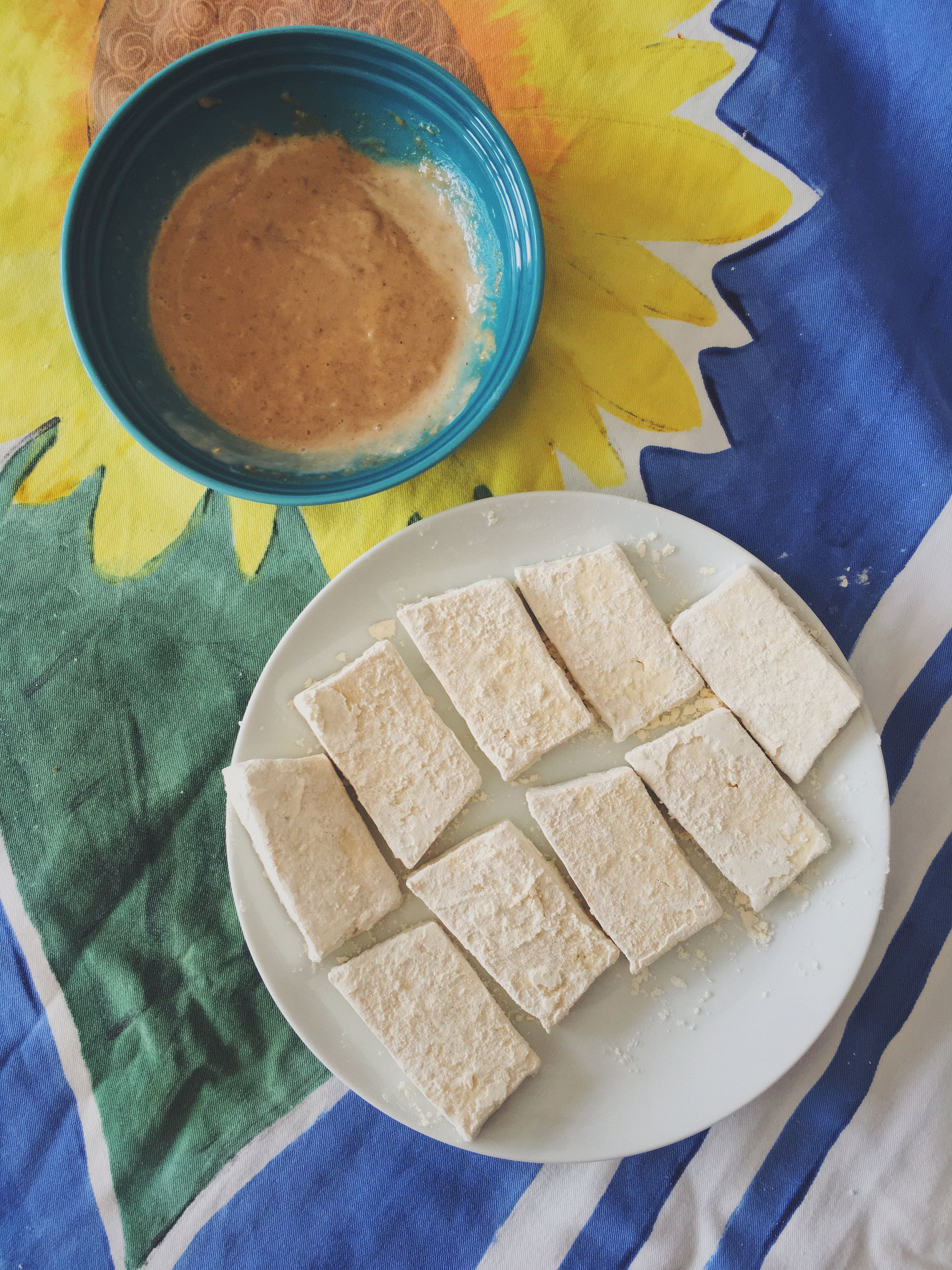 a special tahini dipping sauce