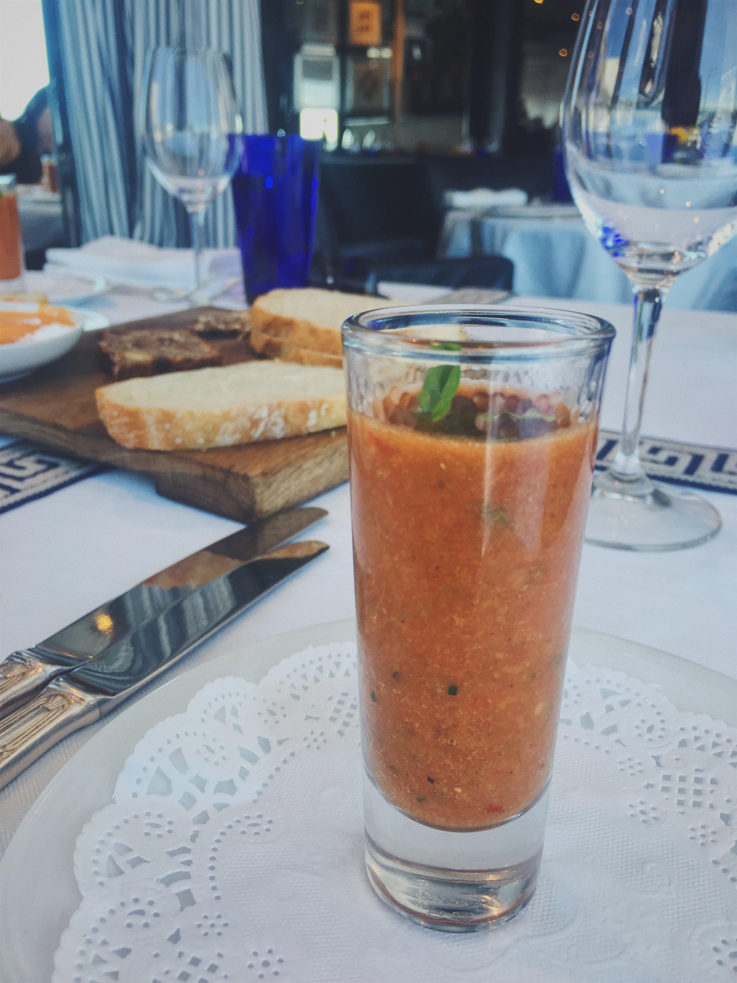 shot vegan tomato gazpacho, you were great
