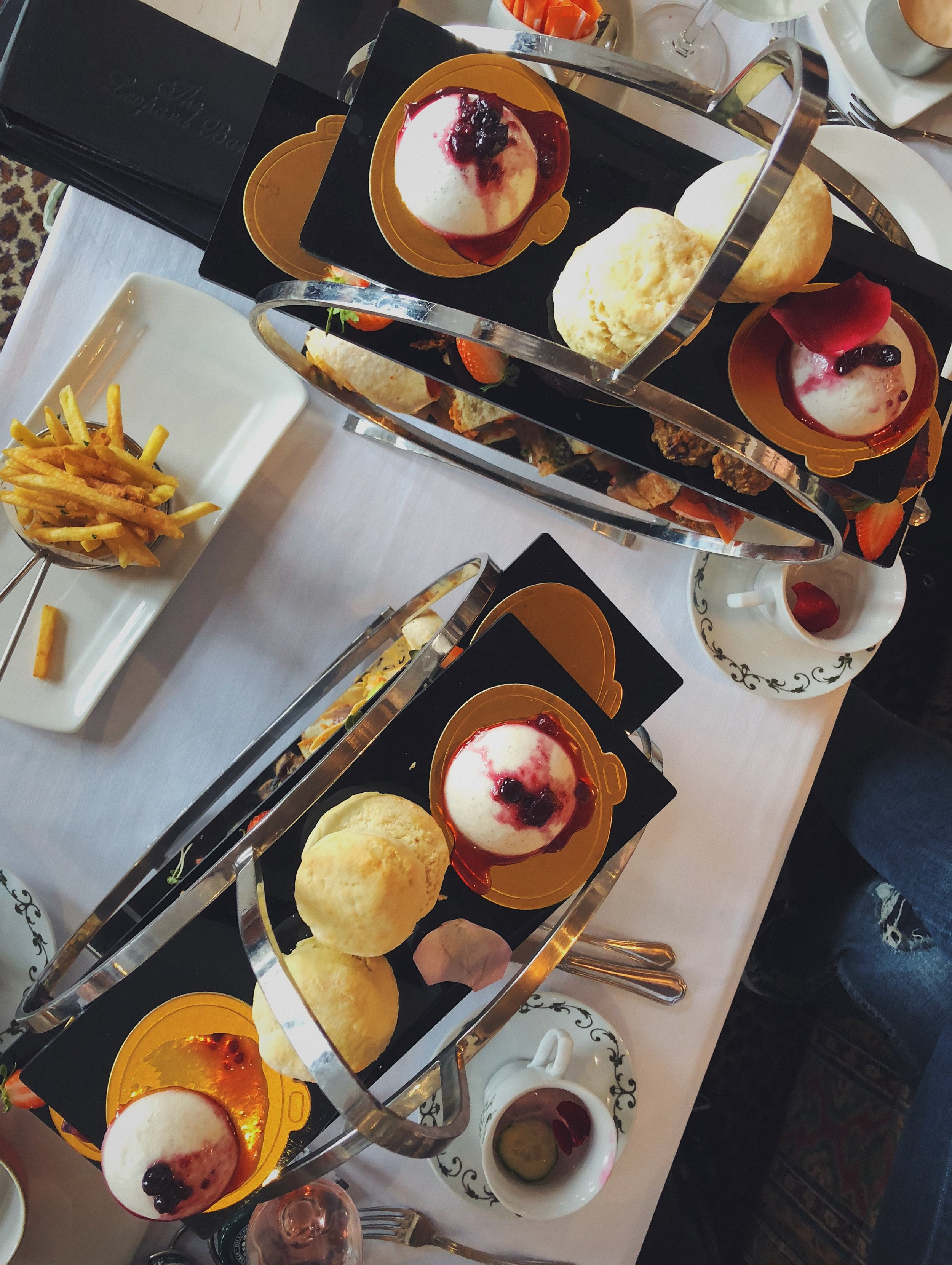 Fluffy scones, french fries and fancy tea