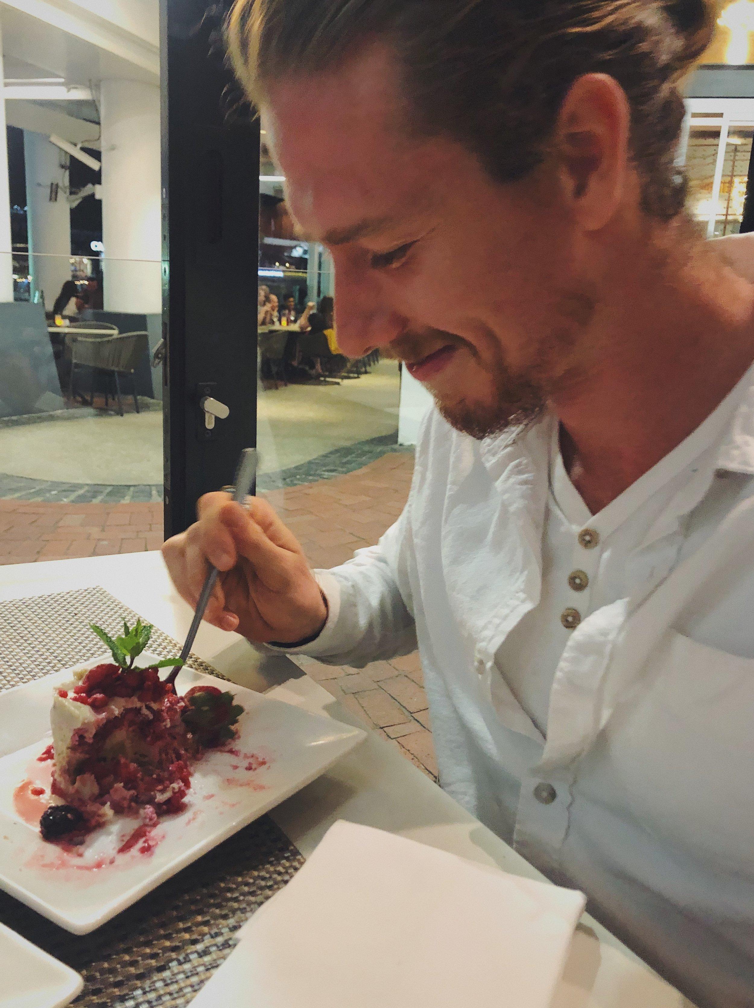 Human eating dessert <3