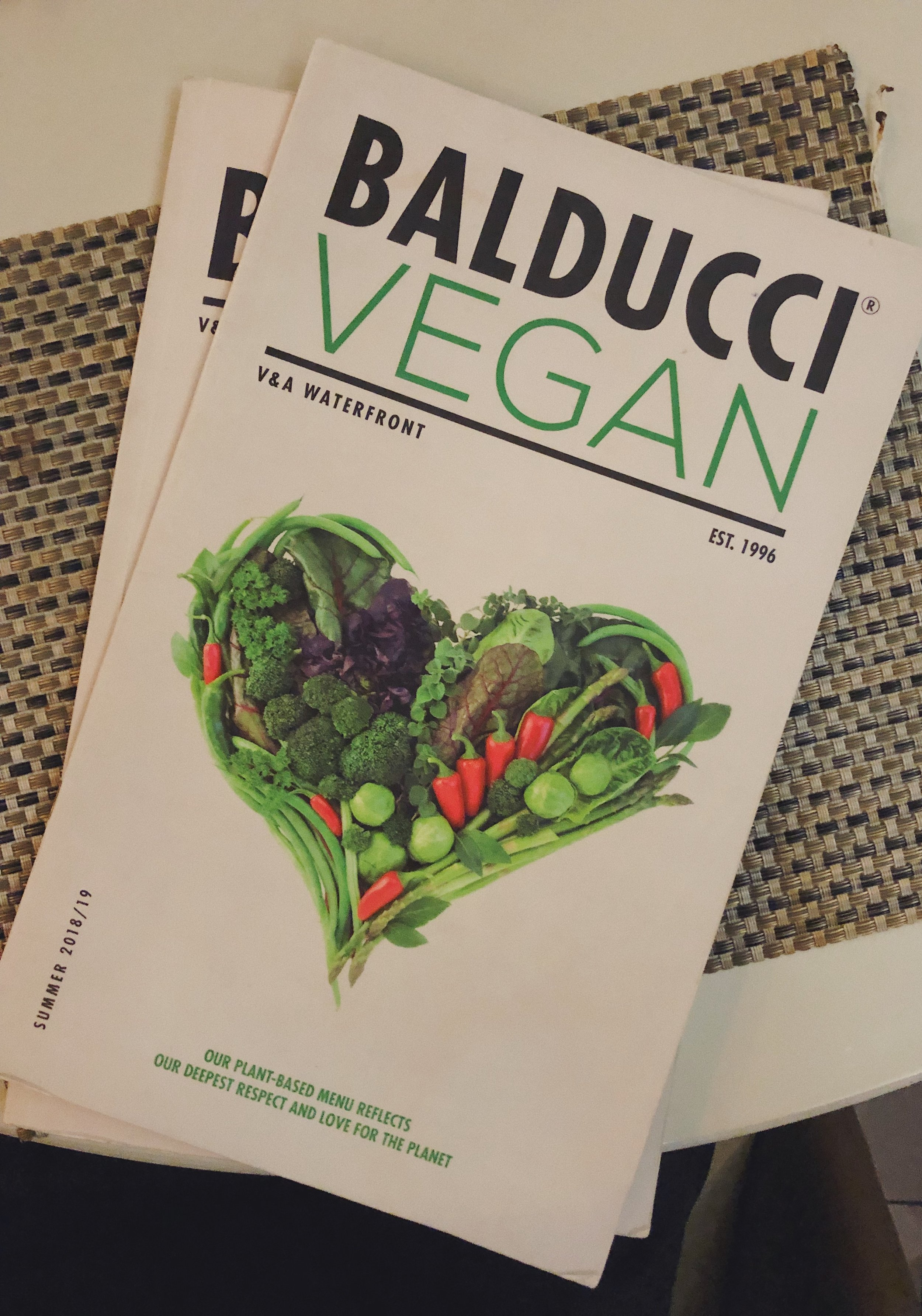 Beautifully crafted vegan menu