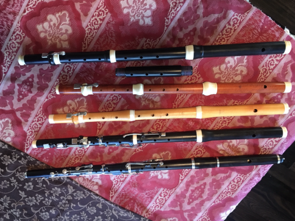 PICTURED ABOVE: FIVE OF MELISSA'S SIX FLUTES