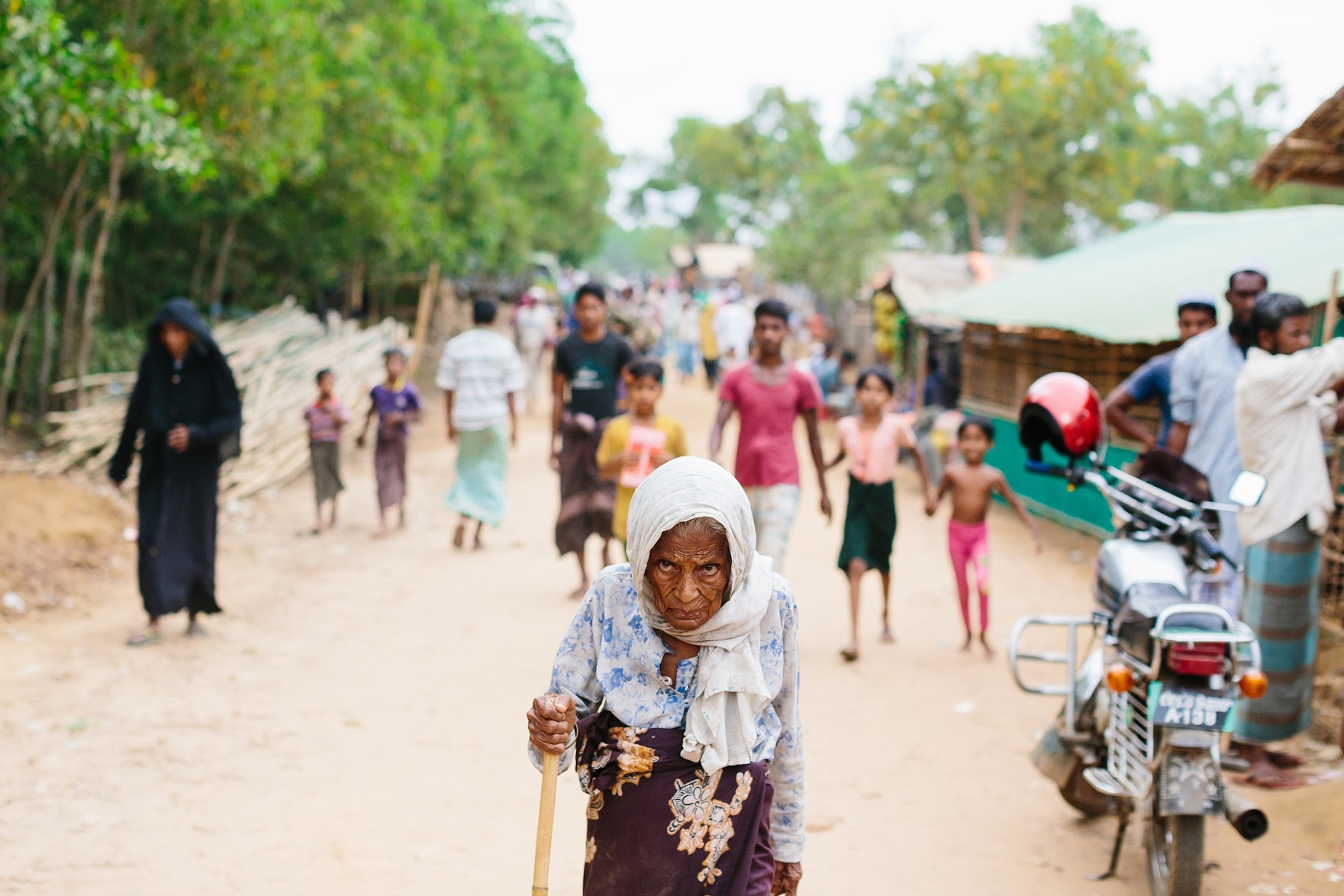 We visited Kutupalong Rohingya camp in Bangladesh  and were horrified and shocked at the unsanitary and crowded conditions. We are currently collecting aid for a shipment there.  Photo by Shannon Ashton