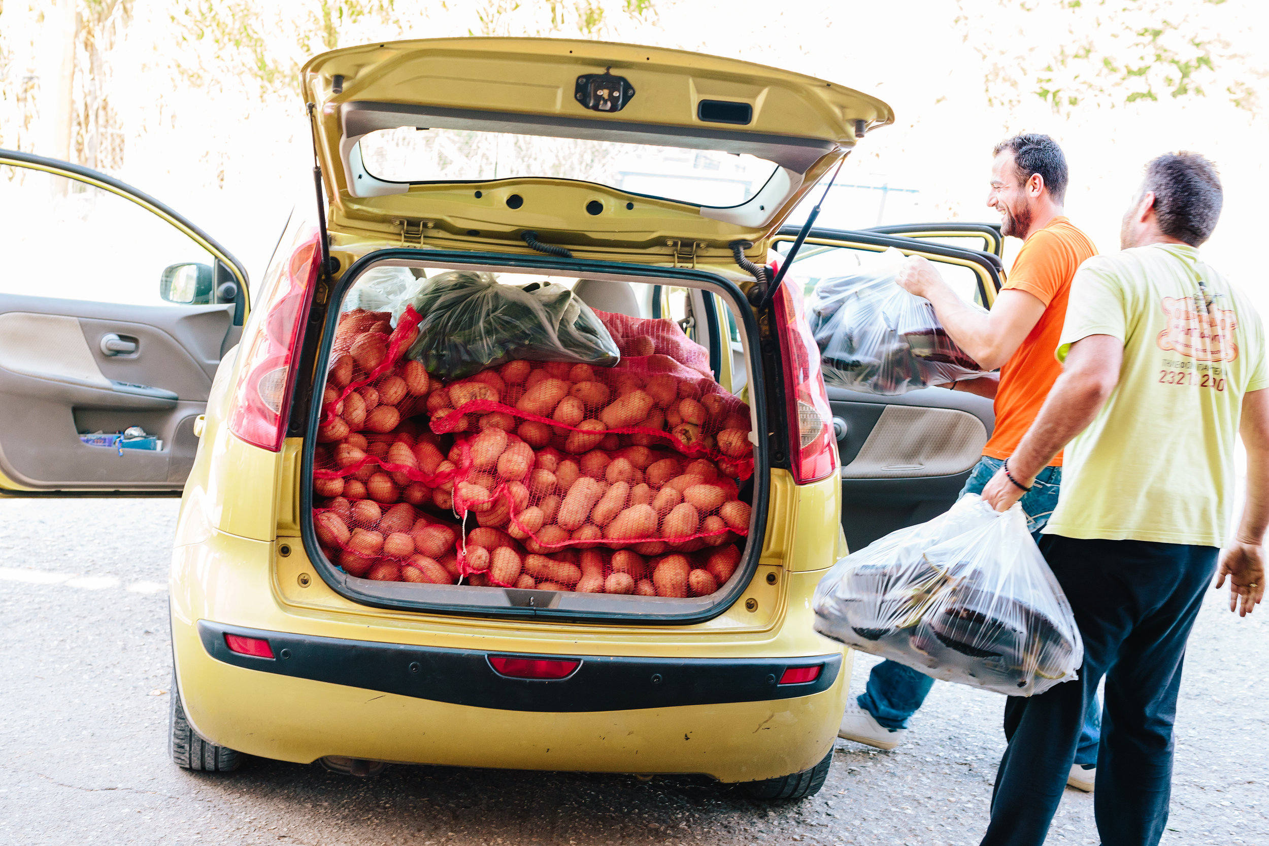 Getting my daily fill of distribution items. Photo by Shannon Ashton