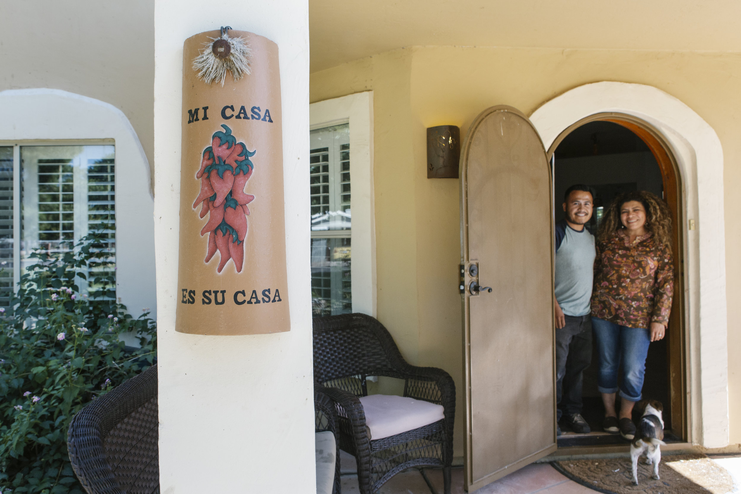 "The welcome sign on the front pillar of Israel and Marta's home isn't just for show. They exemplify the saying ""Mi Casa Es Su Casa"" (My Home is Your Home). During the last nine months they have welcomed over 500 asylum seekers into their home."