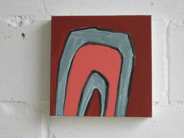 Salut Tom no.6  acrylic on canvas  26cm x 26cm  2008