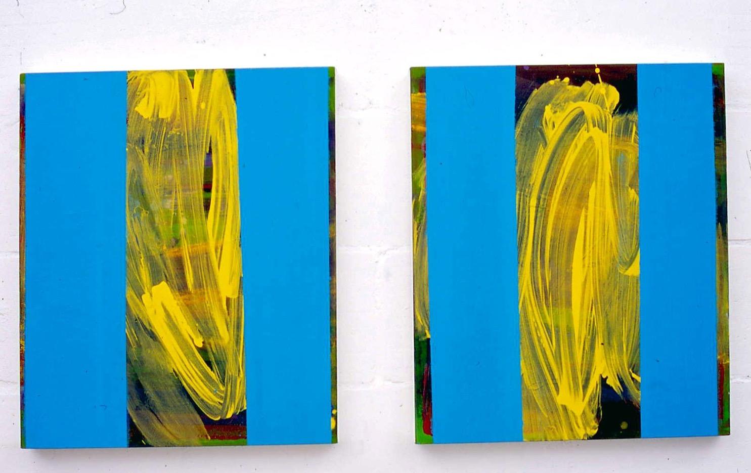 Full stop  acrylic on canvas 56cm x 51cm x 2  2002