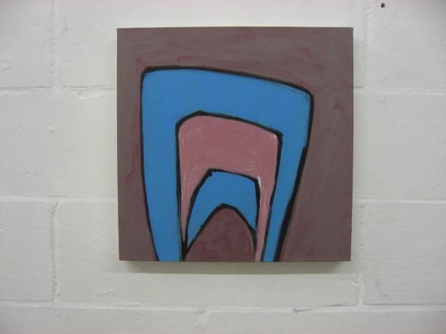 Salut Tom no. 14 acrylic on canvas 46cm x 46cm 2009