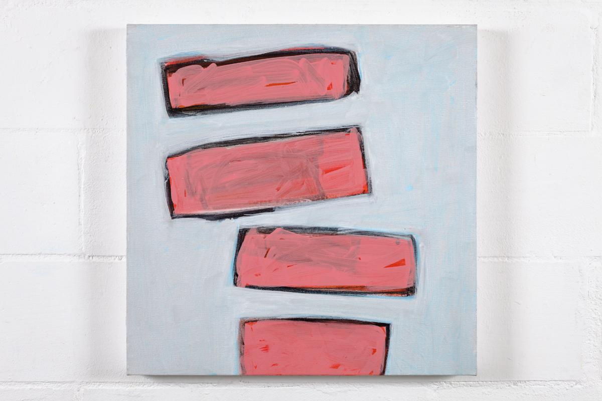 The silence of snow no.4 acrylic on canvas  61cm x 61cm 2008