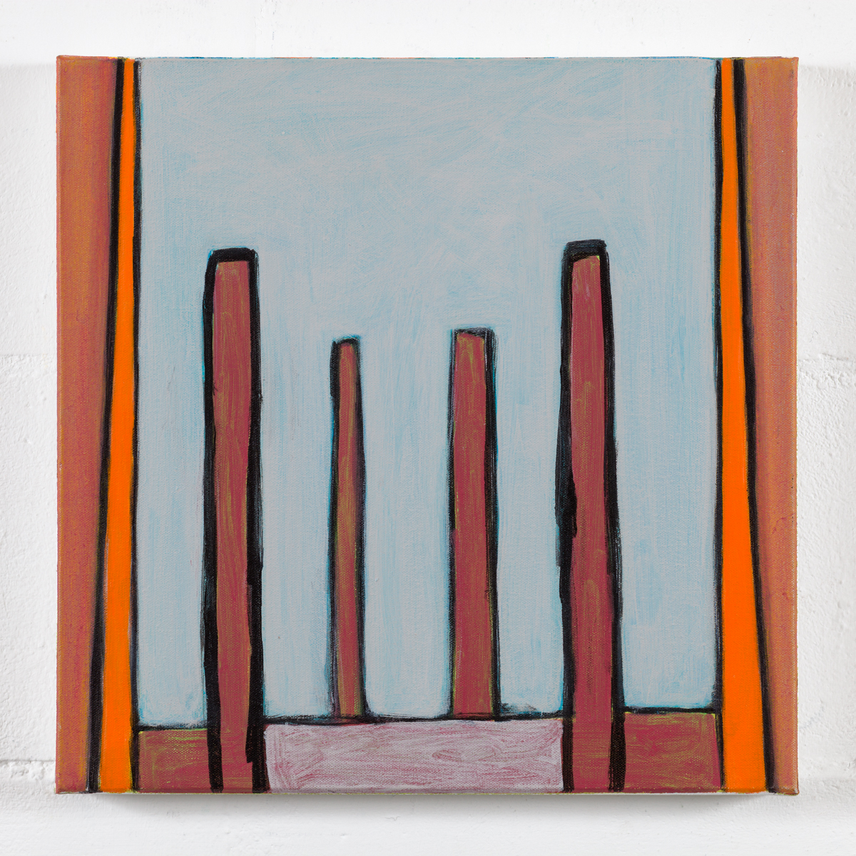 A demain no.2 acrylic on canvas 41cm x 41cm 2013