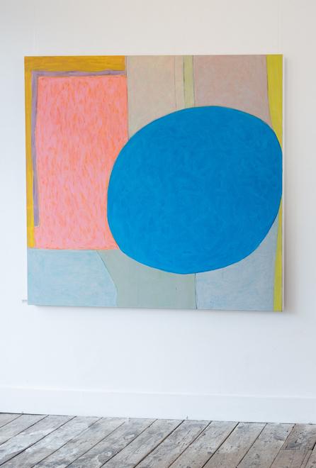 Shifting ground / blue acrylic on canvas  150cm x 152cm 2017