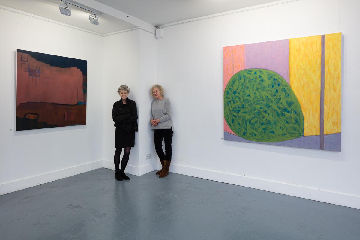 RHS Shifting ground / green acrylic on canvas  150cm x 152cm 2017