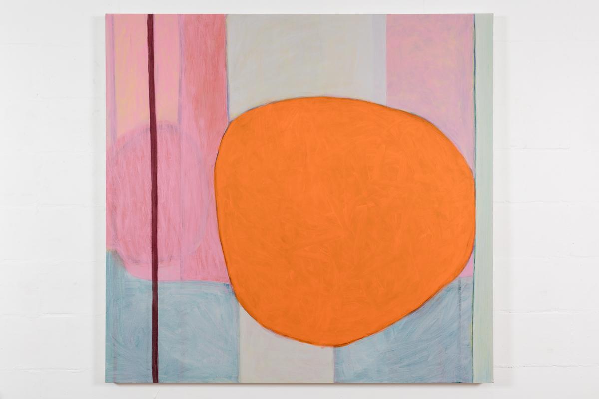 Shifting ground / orange  acrylic on canvas 150cm x 152cm 2017