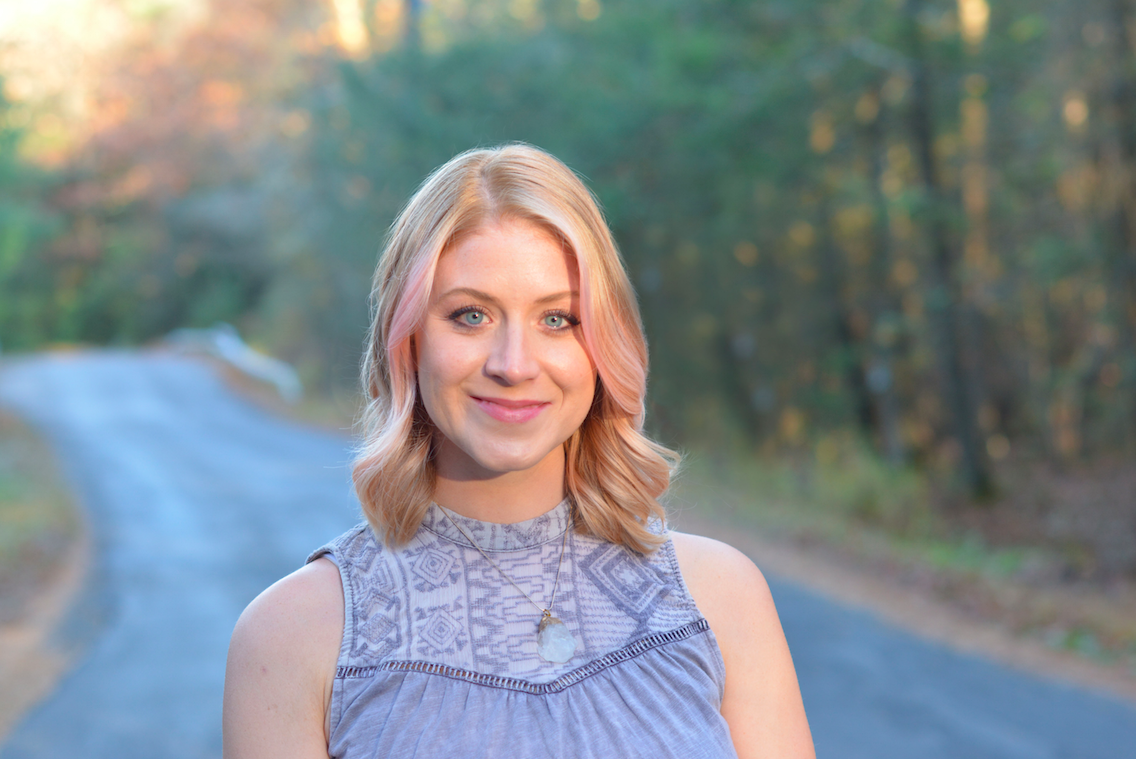 Caitlin Spencer LCSW-C owner and counselor at Pink Lotus Counseling LLC. Photo cred: Robin Briggs