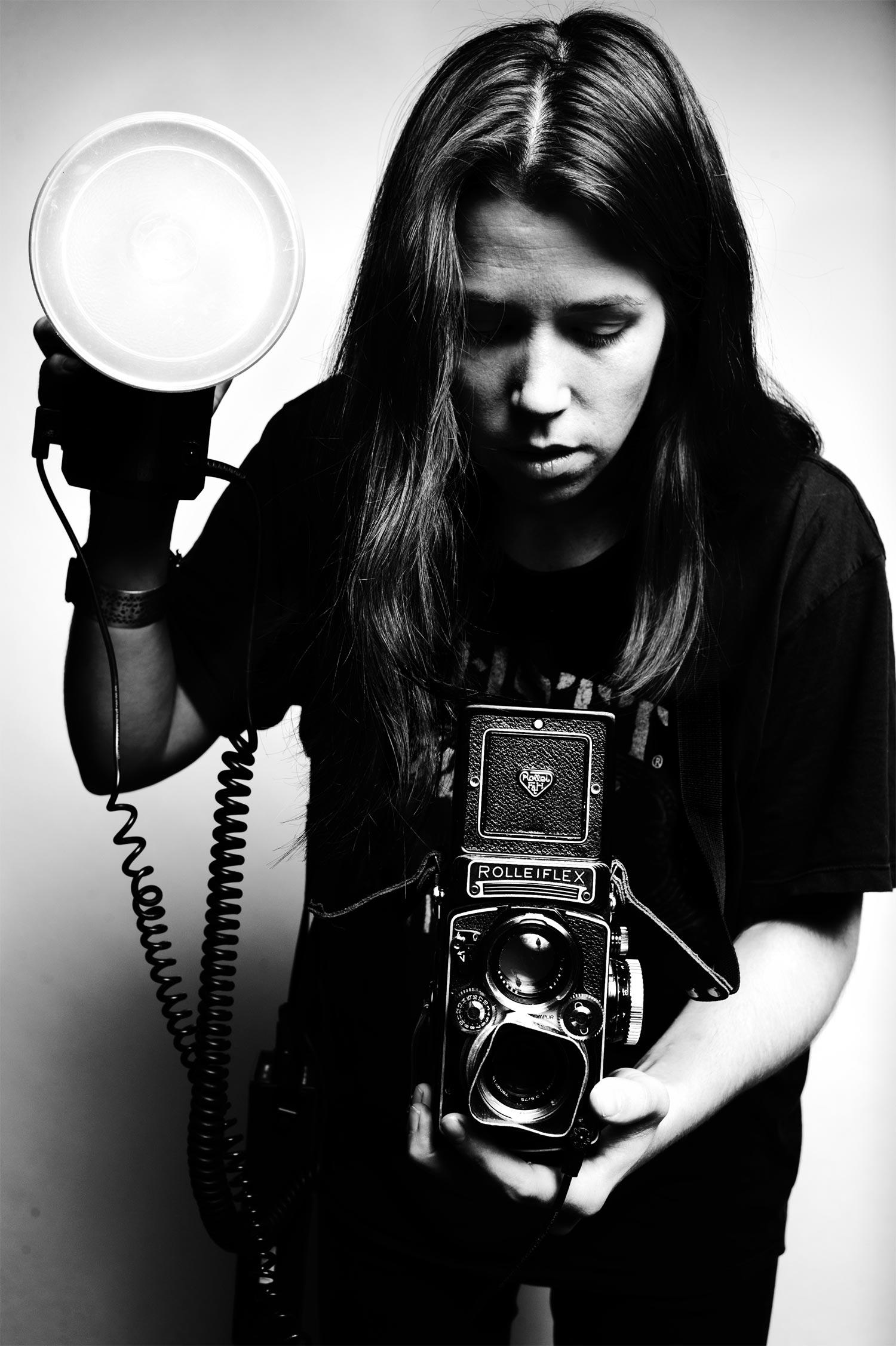 Melanie King Rolleiflex and Strobe