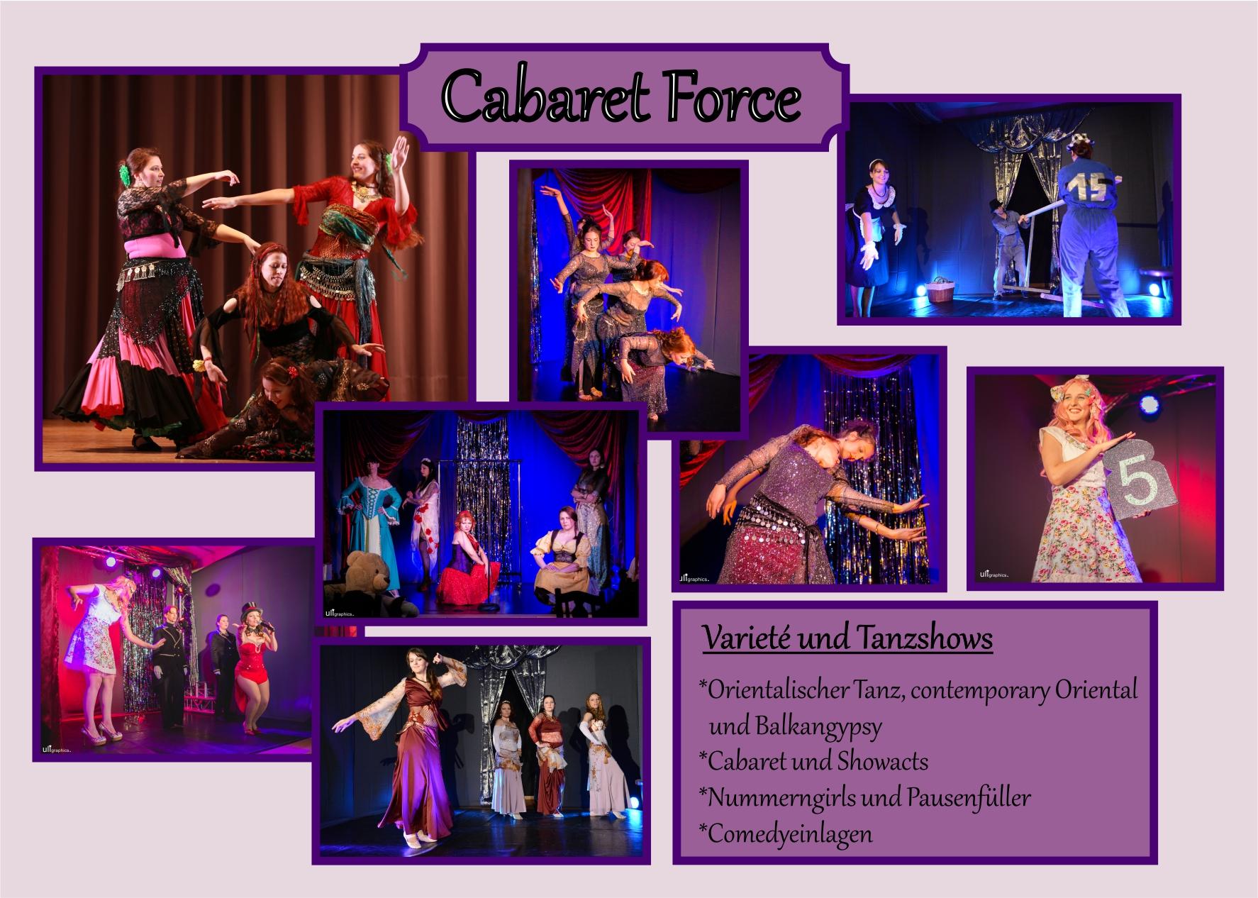 Unser Repertoire reicht vom orientalischen Tanz, contemporary Oriental und Gypsytänzen über gesungene Showacts bis hin zu gespielten Showeinlagen, zum Beispiel als Pausenfüller.
