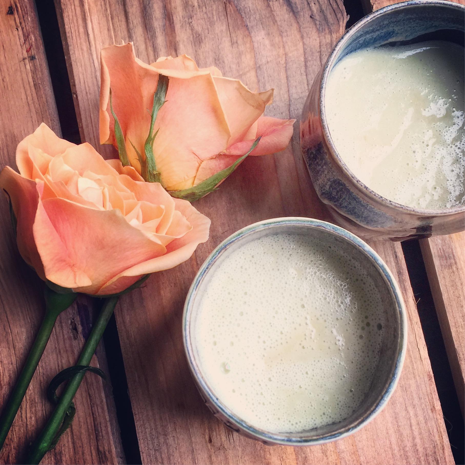 Bone Broth Avocado Latte recipe made with bone broth created by Bone Brewhouse.