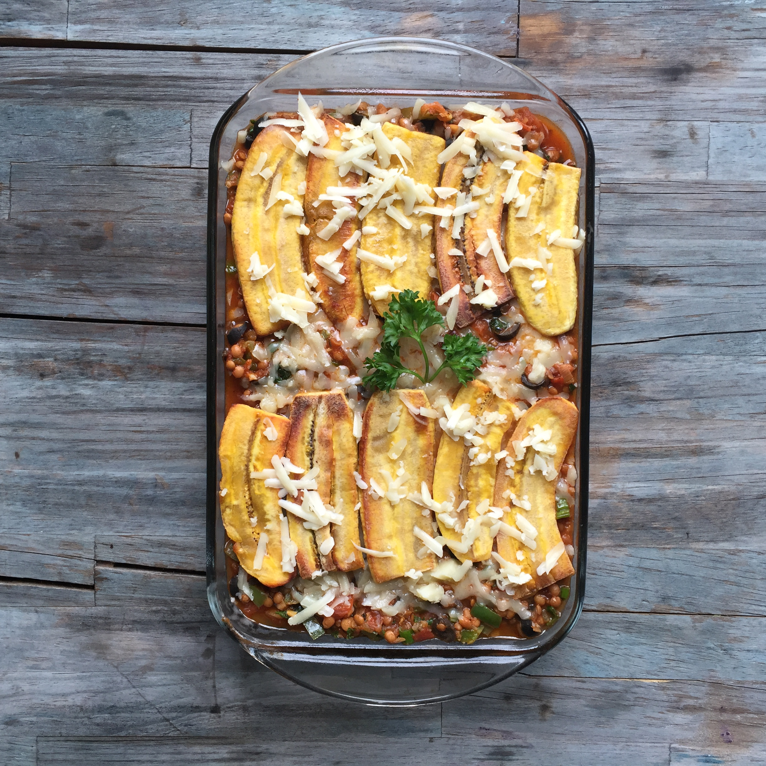 Jamaican-style 'Jerk' Plantain Lasagna with Bone Broth recipe made with bone broth created by Bone Brewhouse.
