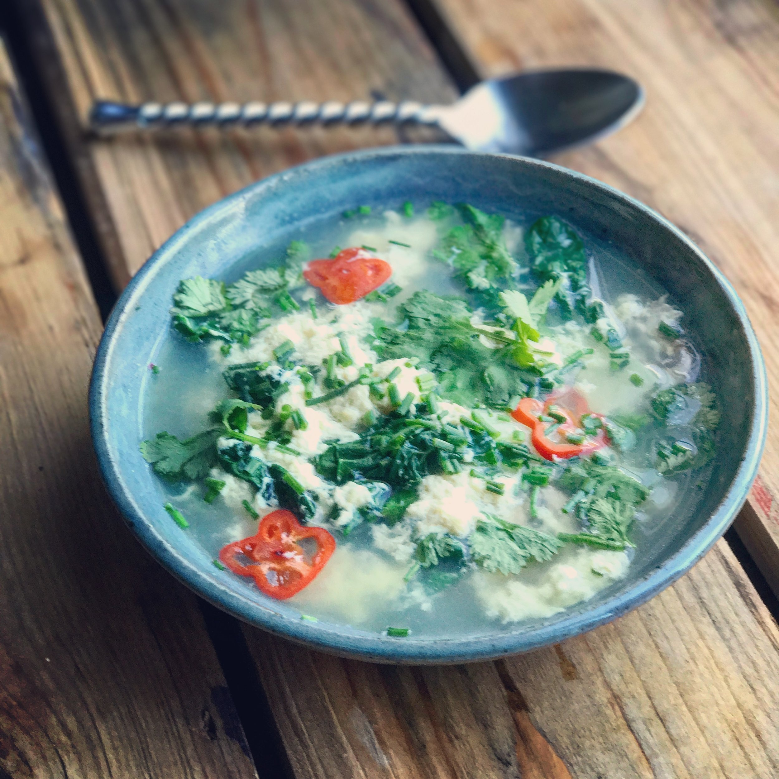 Egg Drop Bone Broth Soup recipe made with bone broth created by Bone Brewhouse.