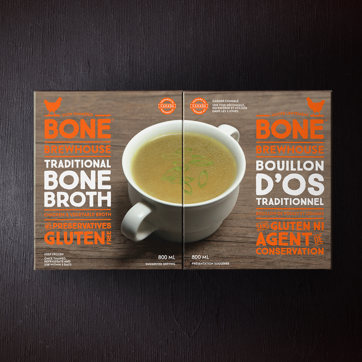 Two-pack of Bone Brewhouse slow-cooked bone broth.