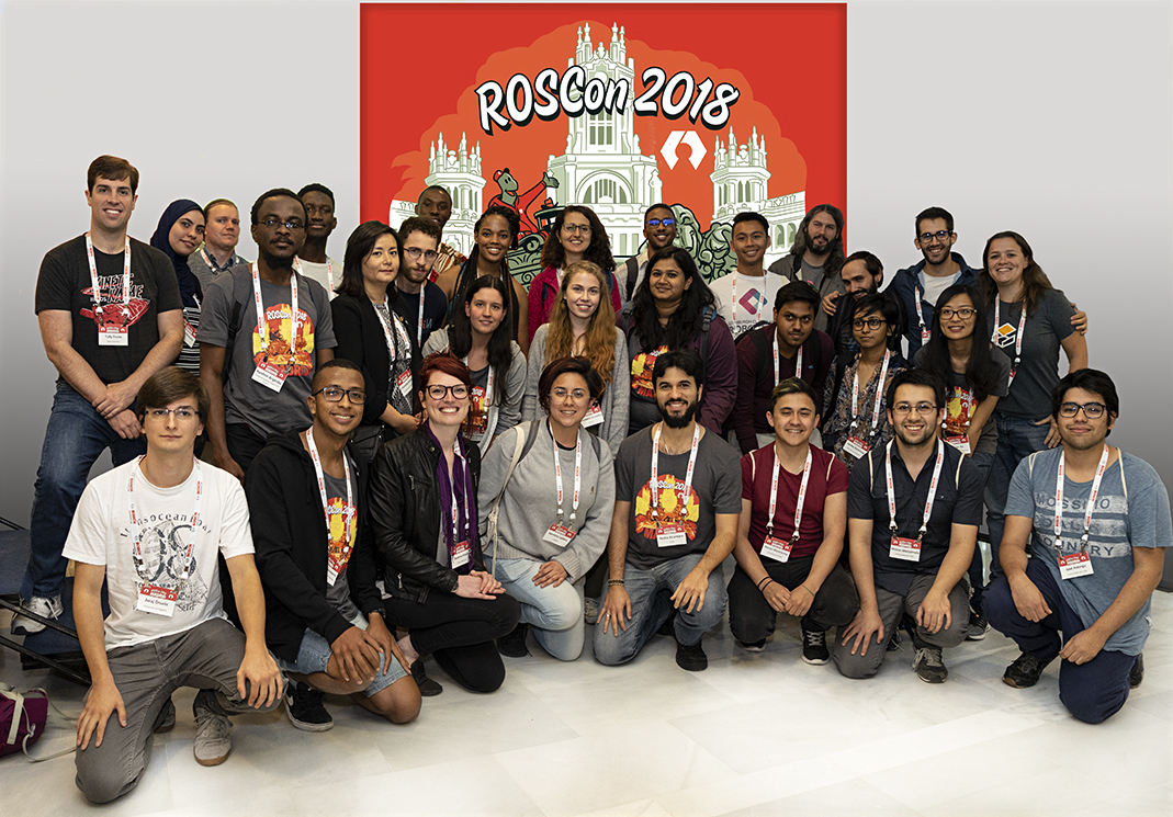 2018 ROSCon Diversity Committee and Scholarship Recipients.