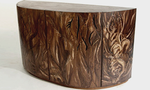 Project: caRVED WOOD TV-UNIT