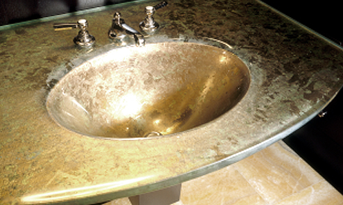 Project: cast glass sink