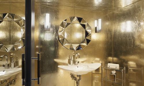 Project: Glass art - Mirrored cast glass walls