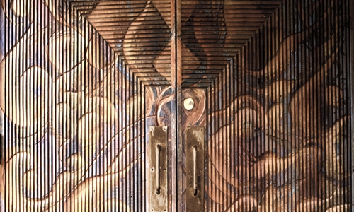 Project: Burned and Carved entry Door