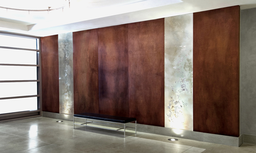 Project: mahogany stained wall panels