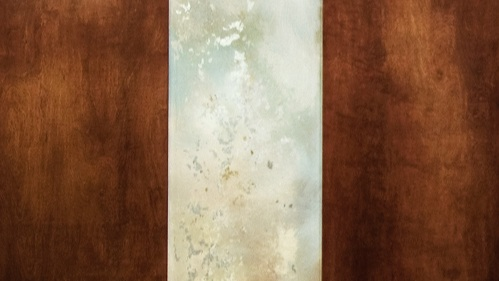 project: Art Glass- mahogany Wood partitian
